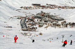 tignes de ski de ressource de la France Photos stock
