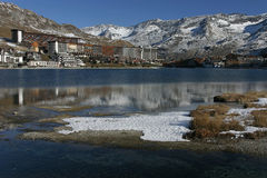 Tignes in french alps Royalty Free Stock Photos