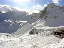 Tignes French Mountain. In Winter (France Stock Photos
