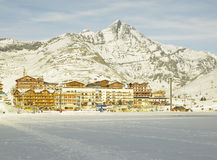 Tignes-le-Lac, France. Tignes-le-Lac in Alps Mountains, Savoie, France Royalty Free Stock Photography