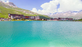 Tignes Le Lac summer Stock Photos
