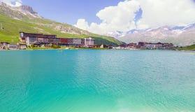 Tignes Le Lac summer Stock Photos