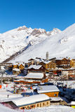 Tignes Le Lac. View of the Tignes Le Lac, France Stock Photography