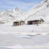 Tignes-le-lak, Alpen Royalty-vrije Stock Fotografie