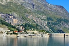 Tignes, and mountains Stock Photo