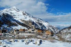 Tignes Ski-Mitte Stockbild