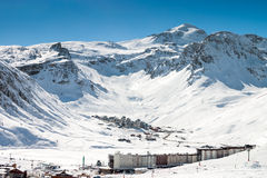 Tignes-Skiort Lizenzfreies Stockbild