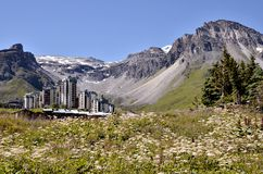 Tignes Val Claret in France Royalty Free Stock Image