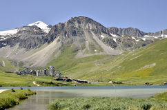 Tignes Val Claret in France Royalty Free Stock Photos