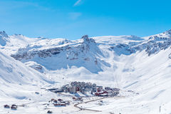 Tignes Val Claret. Stock Photos