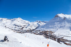 Tignes Val Claret. View of Tignes Val Claret, French Alps Royalty Free Stock Photo