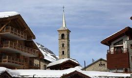 Tignes 1800, Winter ski resort of Tignes-Val d Isere, France Royalty Free Stock Image