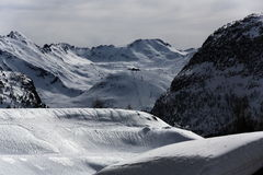 Tignes 1800, Winter ski resort of Tignes-Val d Isere, France Stock Image