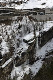 Tignes 1800, Winter ski resort of Tignes-Val d Isere, France Royalty Free Stock Photography