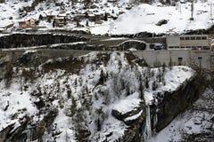Tignes 1800, Winter ski resort of Tignes-Val d Isere, France Royalty Free Stock Images