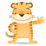 Tigo the Tiger waving hand Stock Photography
