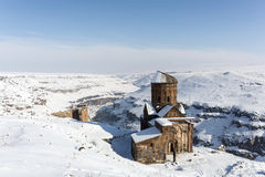 Tigran Honents church in Ani ancient city, Kars, Turkey. Tigran Honents church in Ani is a ruined medieval Armenian city now situated in the Turkey`s province of Royalty Free Stock Image