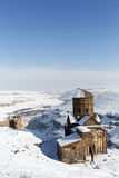 Tigran Honents church in Ani ancient city, Kars, Turkey. Tigran Honents church in Ani is a ruined medieval Armenian city now situated in the Turkey`s province of Stock Photography