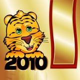 Tigre 2010 dourado Foto de Stock