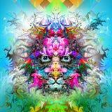 Tigre abstracto Fotografía de archivo libre de regalías