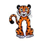 Tigre adorable heureux 1 illustration stock