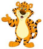 Tigre alegre stock de ilustración