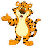 Tigre alegre ilustração stock