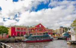 TIGRE ARGENTYNA, MAJ, - 02, 2016: chinatown, lokalizować przed rzeką jest jeden główni turystyczni atracctions wewnątrz Obrazy Stock