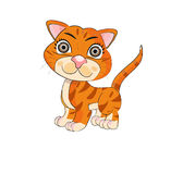 Tigre astratta Immagine Stock Libera da Diritti