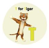 Tigre avec l'alphabet illustration de vecteur