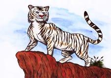 Tigre bianca (Zen Pictures II, 2012) Immagini Stock