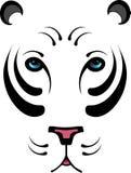 Tigre blanc stylisé - aucun contour Images libres de droits