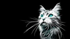 Tigre bleu rougeoyant Illustration de Vecteur