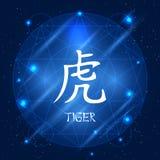 Tigre cinese del segno dello zodiaco Fotografie Stock Libere da Diritti