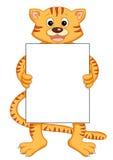 Tigre con il messaggio Fotografia Stock Libera da Diritti