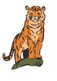 Tigre courageux Photo stock