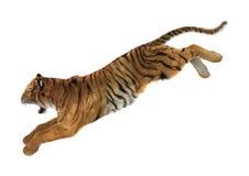 tigre da rendição 3D no branco foto de stock royalty free