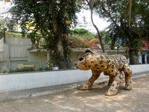 Tigre dans le secteur beatnik de Barranco de Lima Image stock