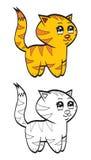 Tigre de bebê bonito dos desenhos animados Fotografia de Stock Royalty Free