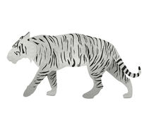 Tigre de Bengala blanco del papel reciclado aislado en blanco Imágenes de archivo libres de regalías