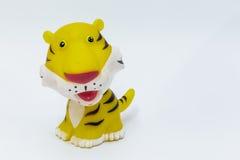 Tigre de borracha Fotografia de Stock