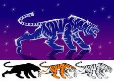 Tigre de brilho Ilustração do Vetor