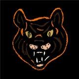Tigre de broderie de vecteur Image libre de droits