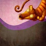 Tigre de dessin animé de cru. Photographie stock