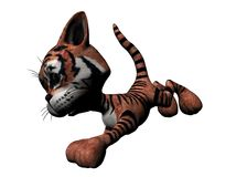 Tigre de la felpa Ilustración del Vector