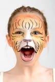 Tigre de la pintura de la cara Fotografía de archivo