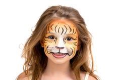 Tigre de la pintura de la cara Fotos de archivo libres de regalías