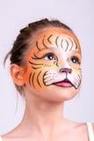 Tigre de la pintura de la cara Imagen de archivo libre de regalías