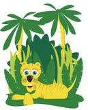 Tigre de la selva ilustración del vector