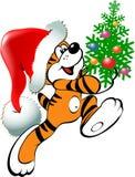 Tigre de Noël Photographie stock